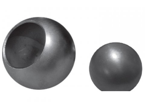 Stalowa kula z otworem fi 150mm