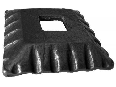 Maskownica metalowa 50x50mm otwór 12mm