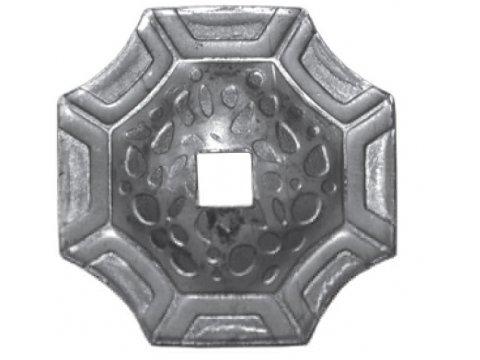 Maskownica metalowa 100x100mm otwór 40mm