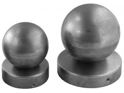 Daszek stalowy okrągły 42mm z kulą 50mm na słupek
