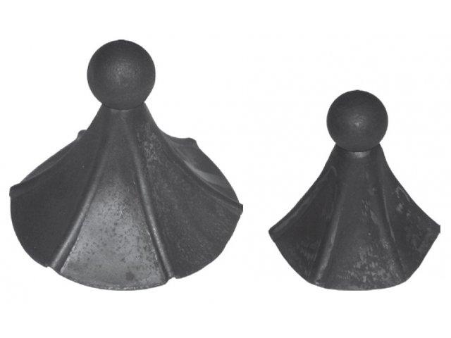 Daszek stalowy okrągły szpic H 120mm FI 100mm