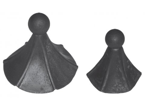 Daszek stalowy okrągły szpic H 140mm FI 145mm