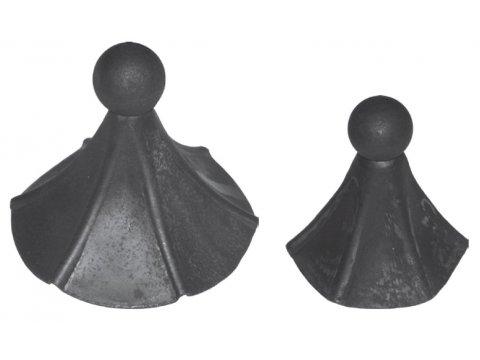 Daszek stalowy okrągły szpic H 180mm FI 150mm
