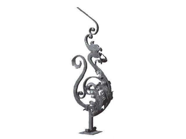 Słup balustradowy stalowy ozdobny smok