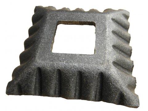 Maskownica metalowa 75x75mm otwór 40x20mm