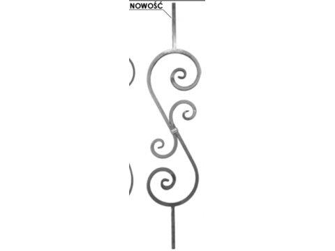 Tralka Prosta Ozdobna 05.092 950 x 190