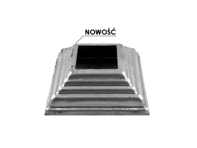 Maskownica metalowa 13.492.80, 122x122mm, otwór 80-mm