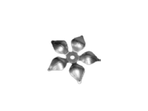 Stalowy kwiat kuty fi 135mm 14.021.01