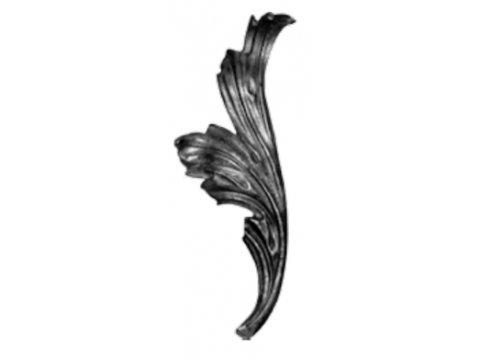 Stalowy liść kuty 14.303.34 200 x 210mm