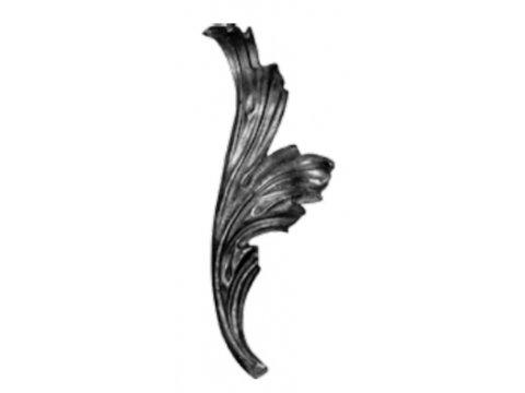 Stalowy liść kuty 14.303.35 270 x 100mm