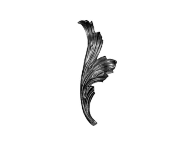 Stalowy liść kuty 14.303.36 270 x 100mm