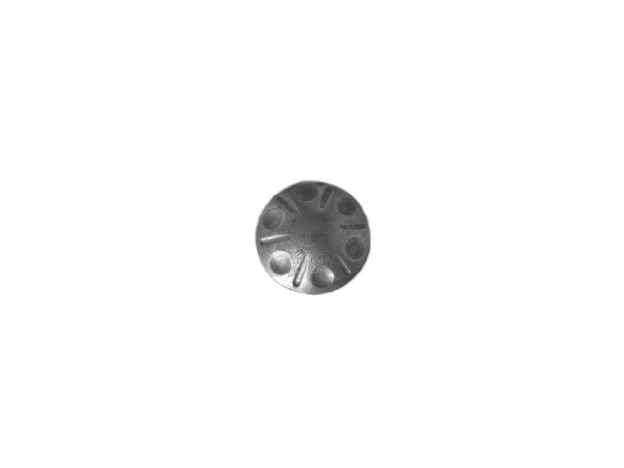 Stalowy kwiat kuty fi 60mm 14.014