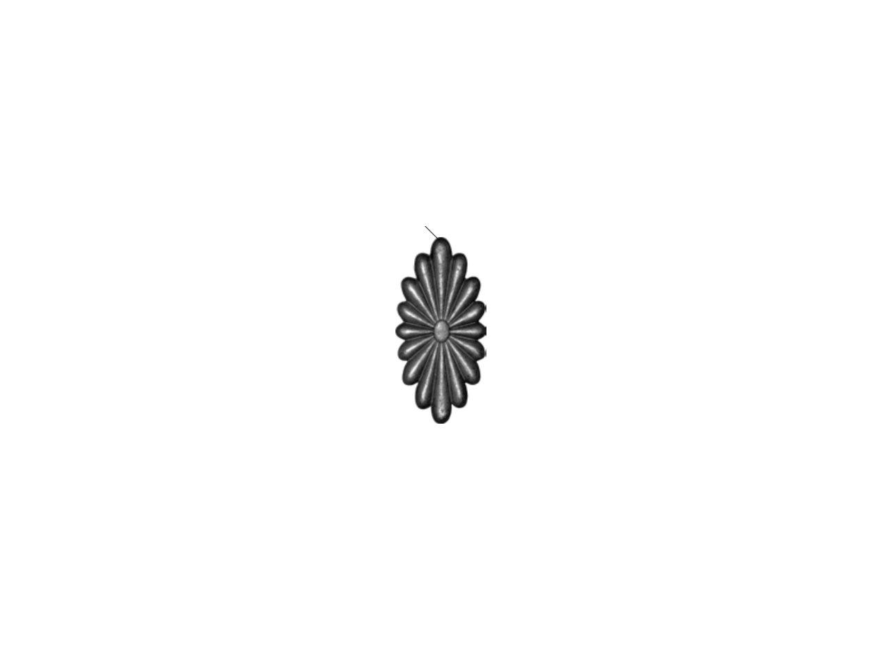 Daszek stalowy kwadrat 14.710.02 165 x 165mm