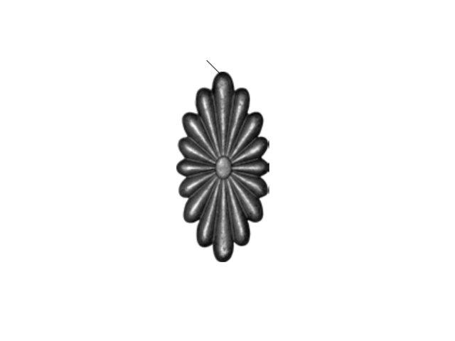 Daszek stalowy 14.711.01 200 x 100mm