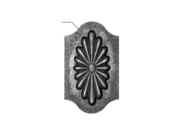 Daszek stalowy 14.711.02 245 x 145mm