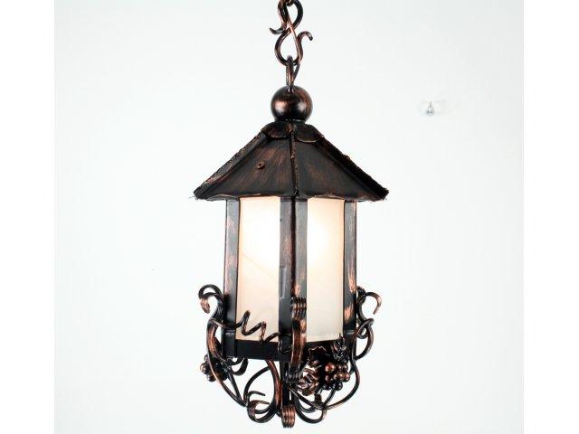 Lampa kuta stalowa wisząca ozdobna winogrono pochyłe skręty L 07