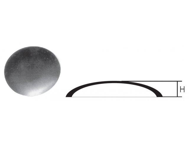 Daszek stalowy na słupek FI108mm H14mm okrągły