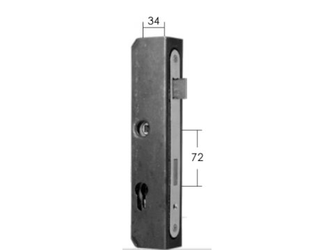Kaseta zamka stalowa Model 15.644.01