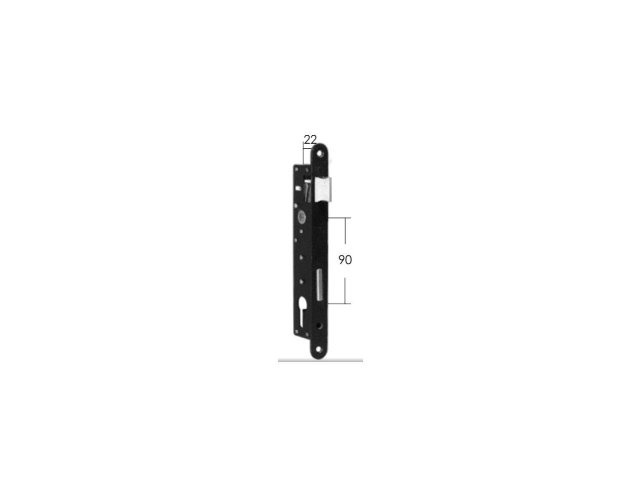 Elektrozaczep R5 z blokadą Model 15.655.01