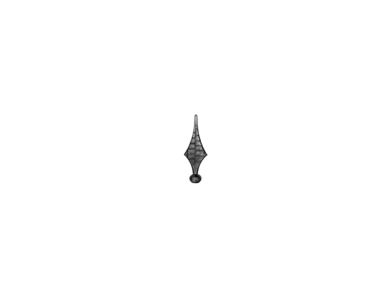Stalowy grot kuty szpic 125mm 13.041