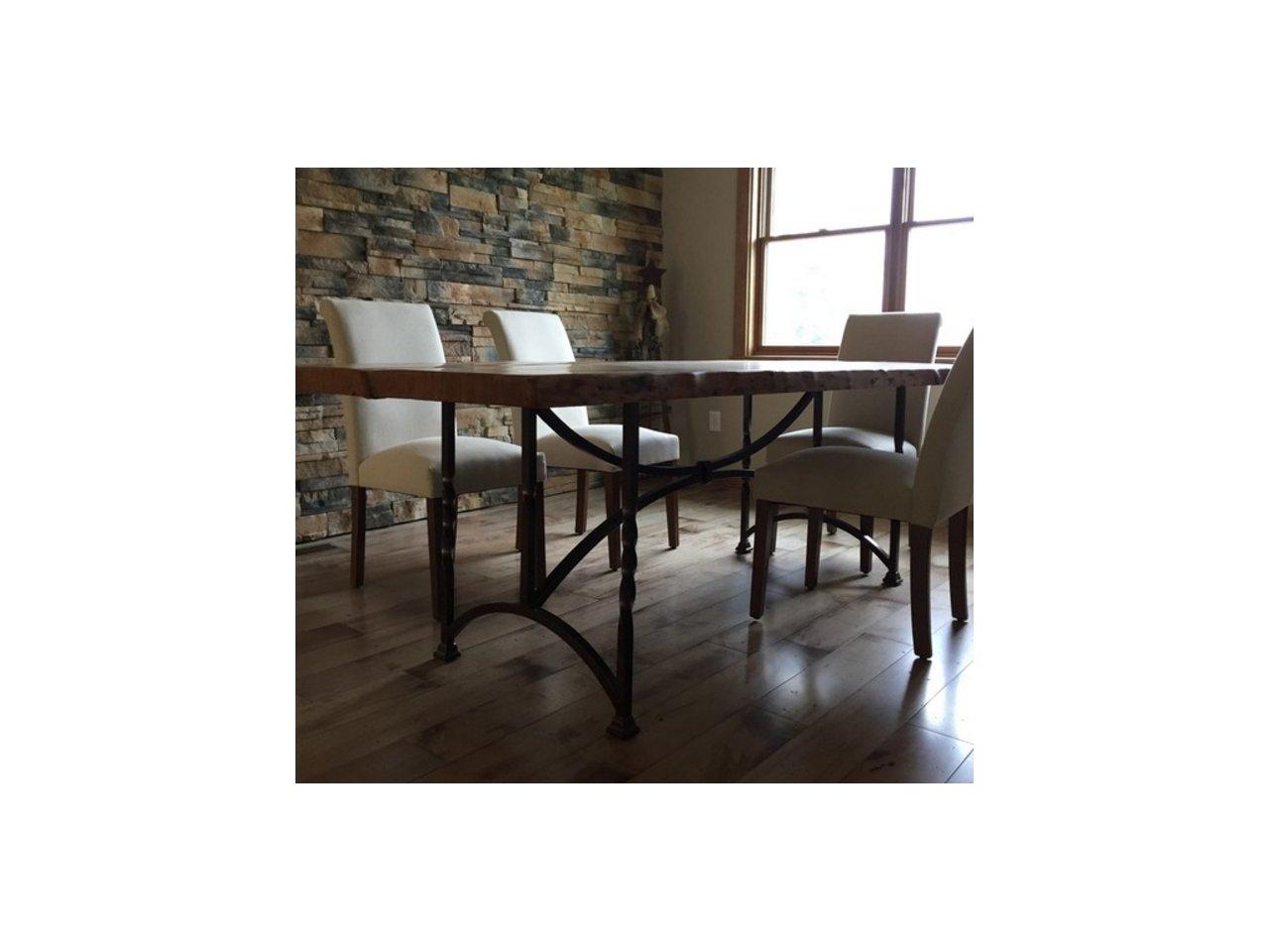 Stół kuty z dębowym blatem SK01