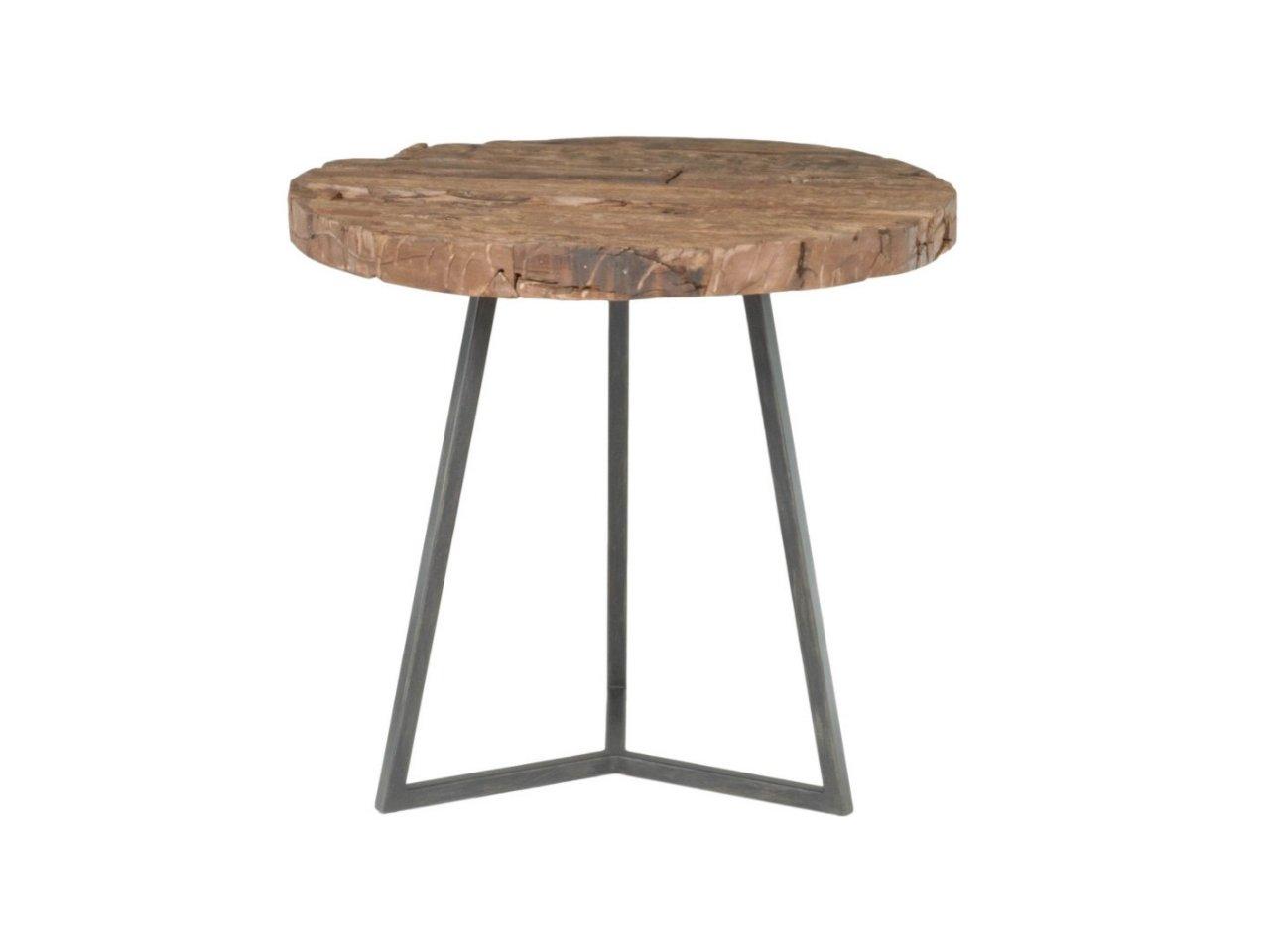 Minimalistyczny metalowy stół kuty