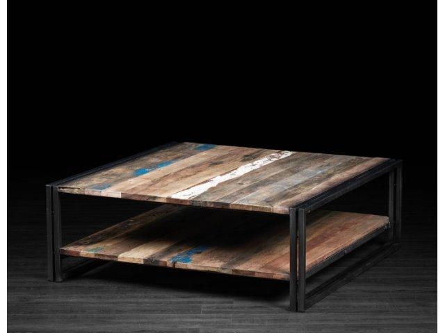 Minimalistyczny stół kuty kwadratowy S005