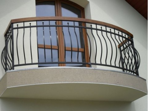 Balustrada kuta zewnętrzna balkon BKZ0045