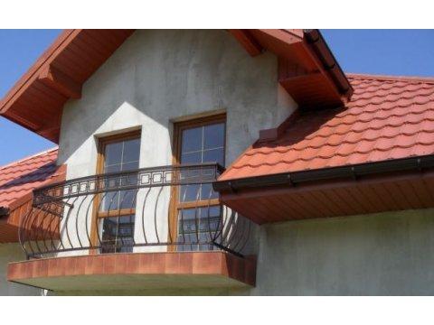 Balustrada kuta zewnętrzna balkon BKZ0047