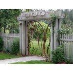 Ogrodowa brama kuta abstrakcyjna OBK06